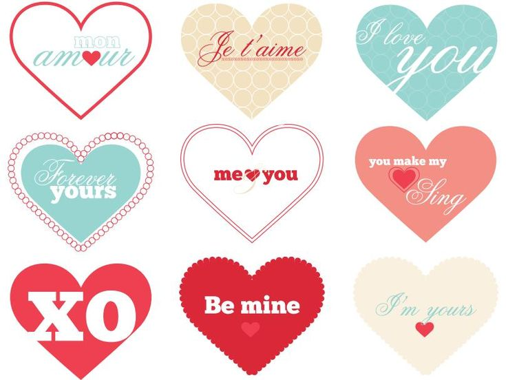 Valentines Heart Printables  How cute are these by graphic designer, Holli Samps