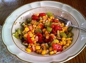Corn, Tomato, Celery & Onion Salad from http://elegantlyglutenfree.com