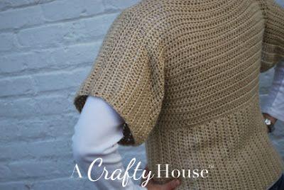 Dolman Sleeve Crochet Sweater Pattern Crochet ...