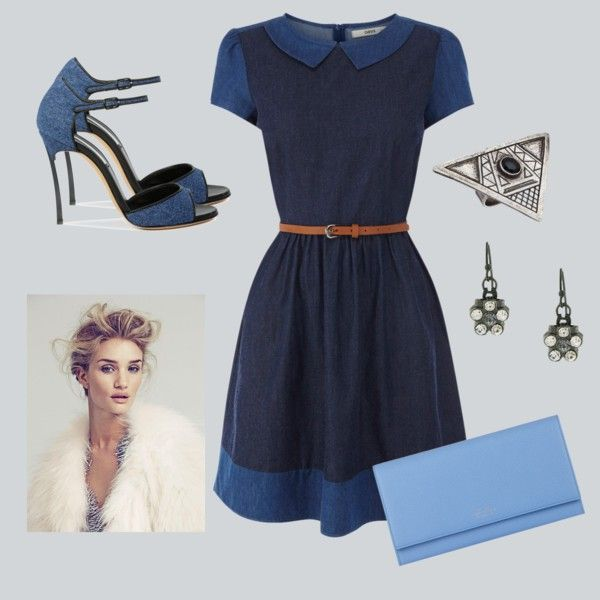 """Blue on Blue"" by everythingrosy on Polyvore"