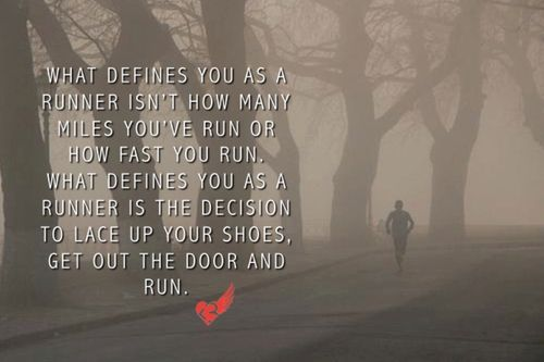 you are a runner