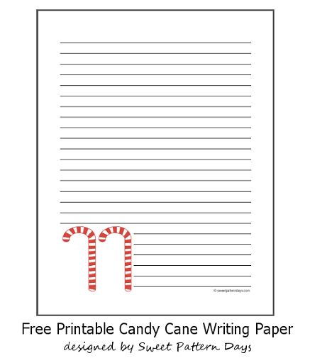 Candy Cane Lined Writing Paper | Christmas Printables | Pinterest