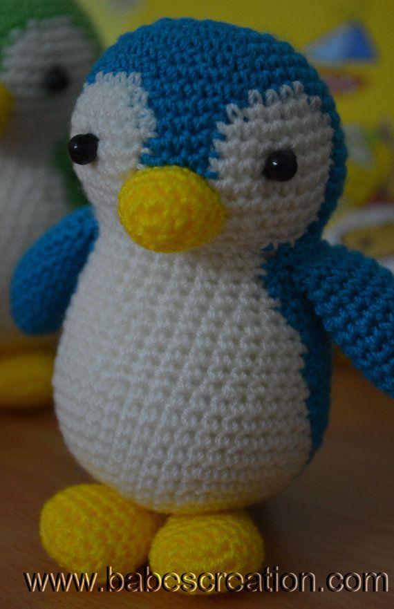 Penguin Amigurumi Pattern. INSTANT DOWNLOAD