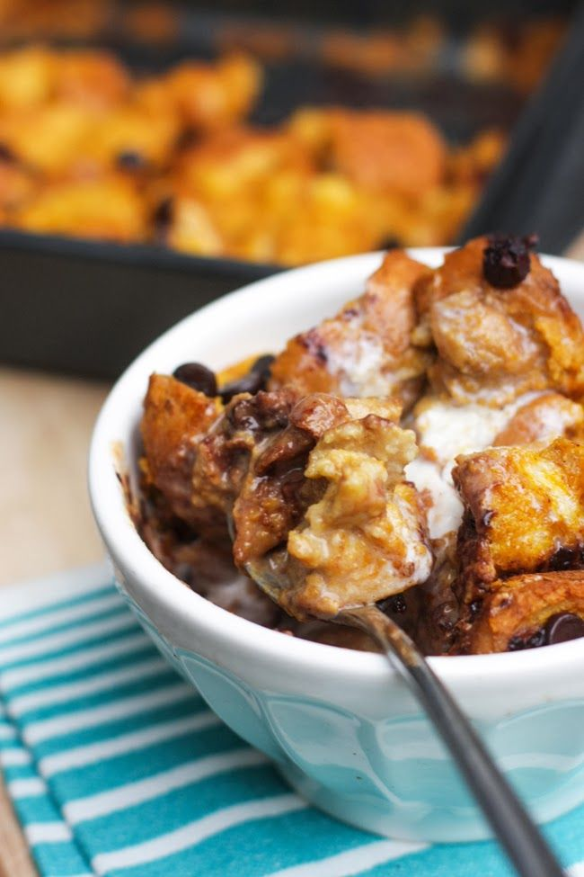 Pumpkin Chocolate Chip Bread Pudding | Cookies, Bars & More! | Pinter ...