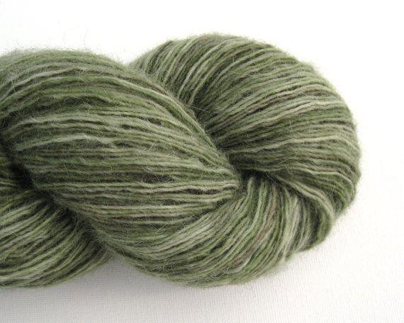 Sport Weight Yarn : Sport Weight Alpaca Blend Recycled Yarn, Fern Green, Self-Striping, 2 ...