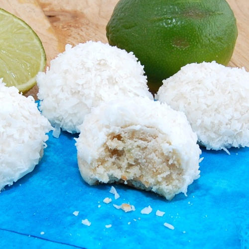 Sweet Pea's Kitchen » Lime Glazed Coconut Snowballs