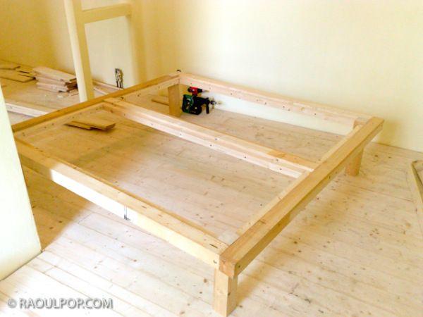Diy King Size Bed Frame Bedrooms Pinterest