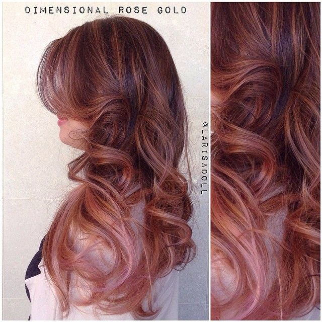Color Rose Gold Hair F...