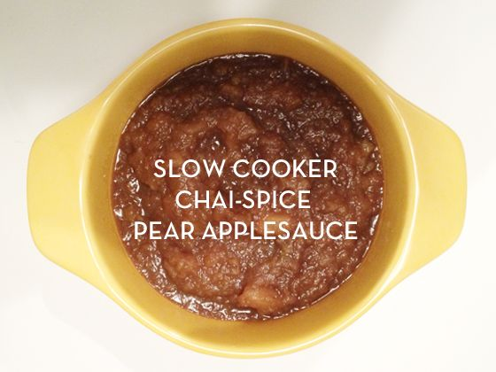 Slow cooker chai pear apple sauce | Recipes to try | Pinterest