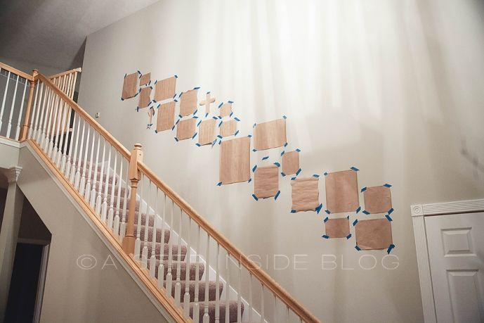 Stairway gallery photo collage wall 2013 decor ideas - Stairway photo gallery ideas ...