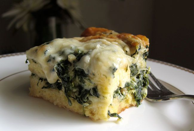 Spinach & Gruyere strata | FOOD | Pinterest