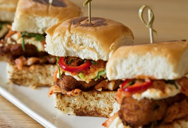 images of slider recipes | Oyster Po'Boy Sliders Recipe