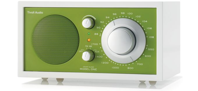 Retro radio, kelly green, $180