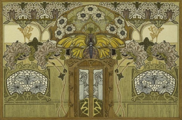 Art nouveau interior design home decor for Art nouveau decoration