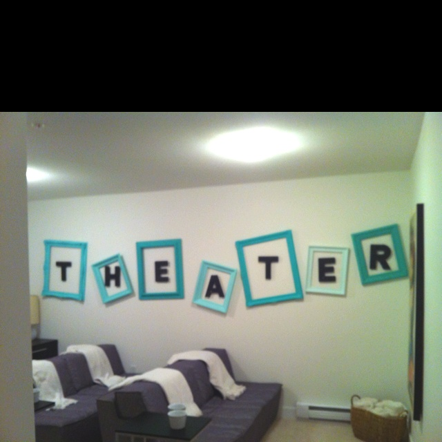DIY Home Theater Wall Design I Hung Projects Pinterest