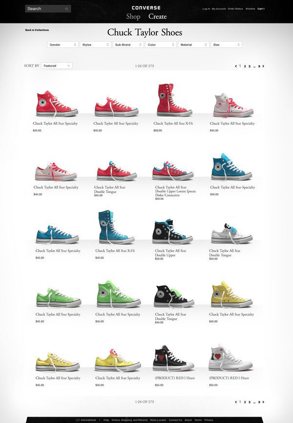 Converse.com. if you go to converse.com you can create your own shoe