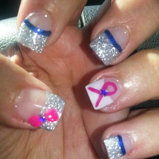 Dallas Cowboys Nails and showing my support for Breast Cancer ...