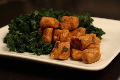 whole wheat sweet potato gnocchi. have made it so many times. its AH ...