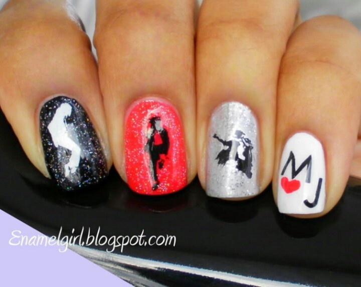 Michael Jackson nail art | Michael Jackson Art | Pinterest