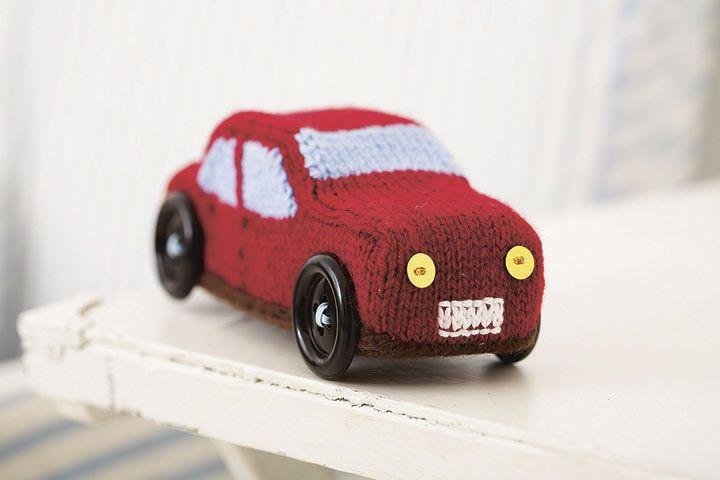 Knitting pattern car toy For the Littluns Pinterest
