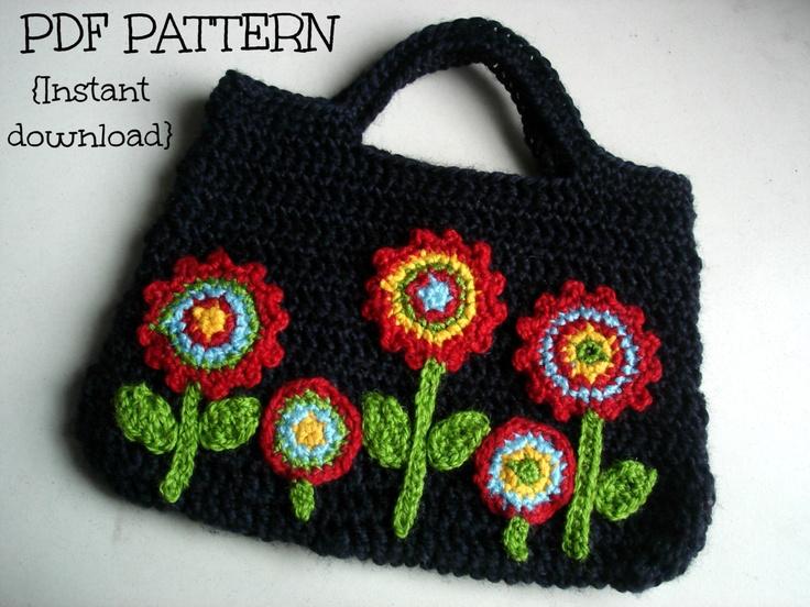 Crochet Yarn Bag Pattern : INSTANT DOWNLOAD PDF Crochet bag pattern