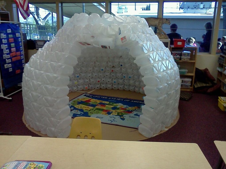 Pin by katina stewart on classroom pinterest for How to build an igloo out of milk jugs