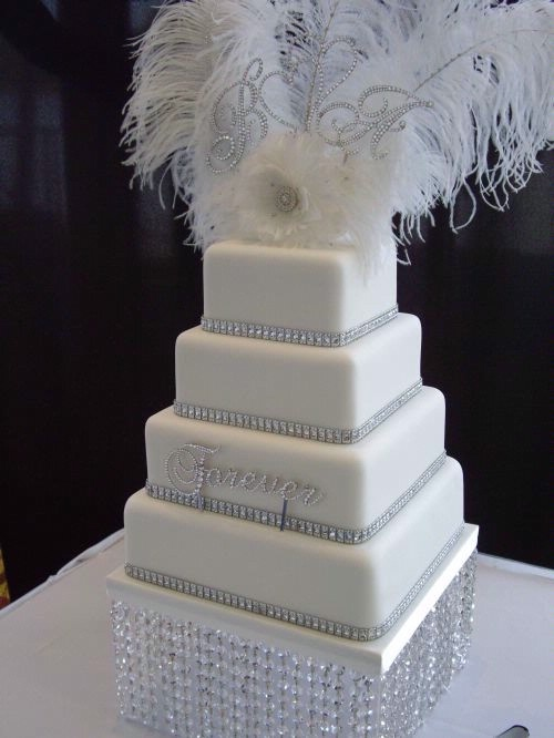 old hollywood wedding cakes
