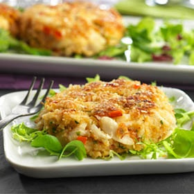 Crab Cakes with Lemon-Garlic Aioli | Food - Seafood | Pinterest