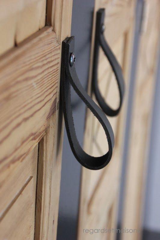 Des poignées de portes en cuir  DIY  Pinterest