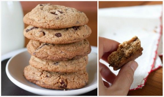 whole wheat chocolate chip cookies | healthy eating | Pinterest