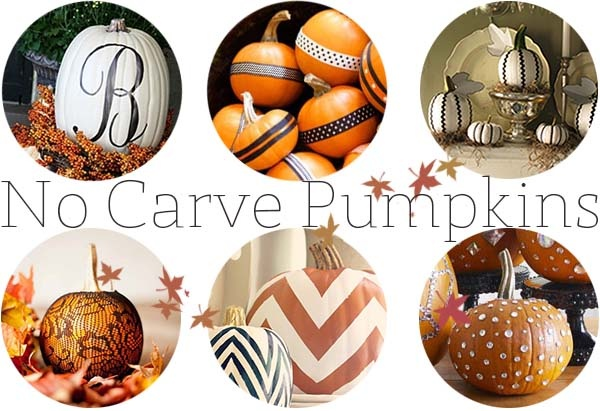 get inspired for Fall 2012! No Carve pumpkins are so cute!