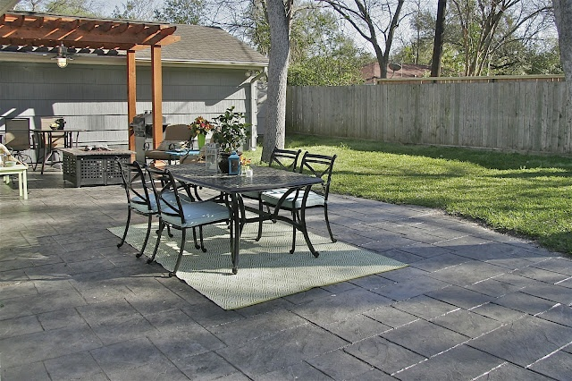 Stamped Stained Concrete Patio The Great Outdoors
