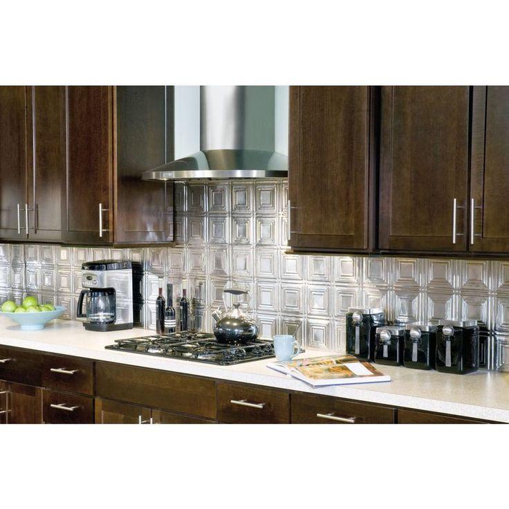 48 1 2 in stainless steel metal kitchen backsplash at