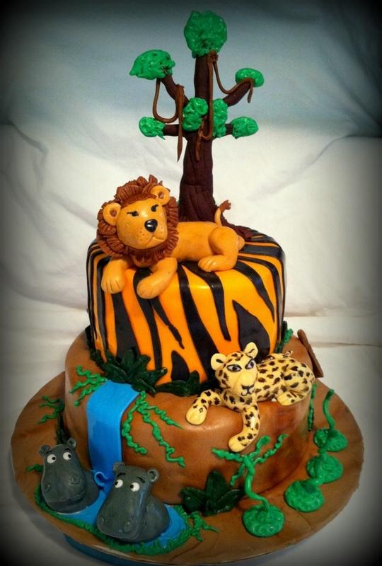 Safari Themed Birthday Cake  Cakes  Pinterest