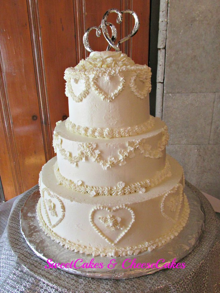 Th anniversary cake wedding