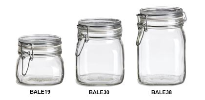 Specialty Bottle - Swingtop Bale Glass Jars