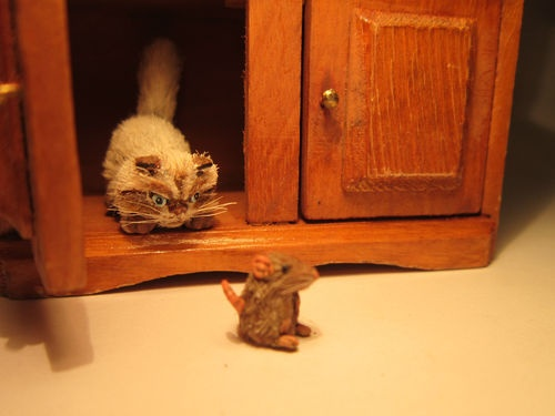 OOAK Miniature Persian Cat, on eBay