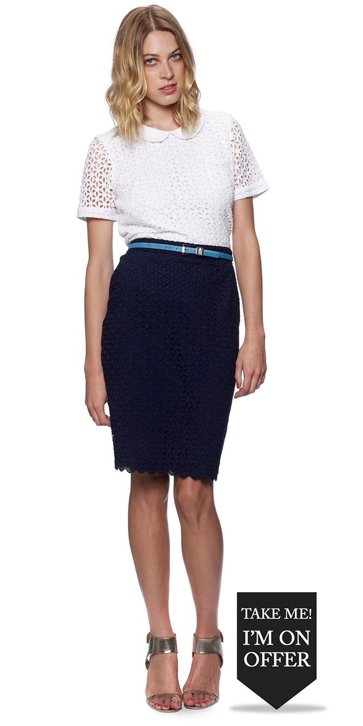 pencil skirt lace blouse sewing inspiration