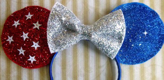 4th of july bow headband