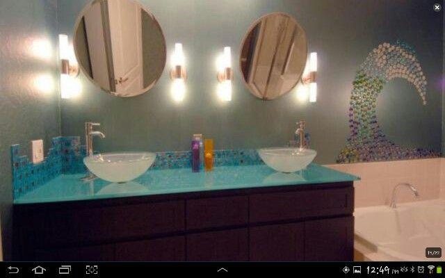 Ideas For Ocean Themed Bathroom : Ocean themed bathroom dream future home ideas