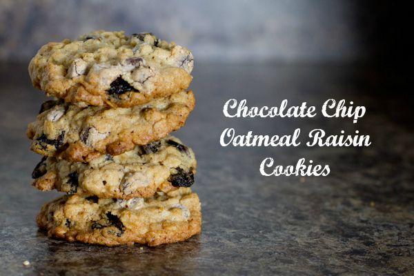 Chocolate Chip Oatmeal Raisin Cookies | Recipe