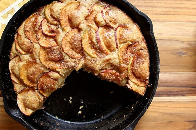 "cinnamon-sugar apple skillet cake ""This cake is just a simple and ..."