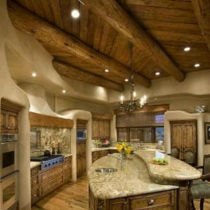 Cabin Kitchen Cabinets: Log Cabin Kitchen