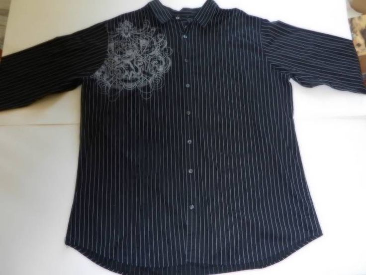 J ferrar mens sz 2x big tall shirt button down long for Mens tall button down shirts