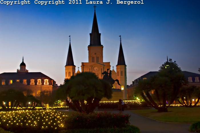Photo I captured yesterday of St. Louis Cathedral at Christmastime.