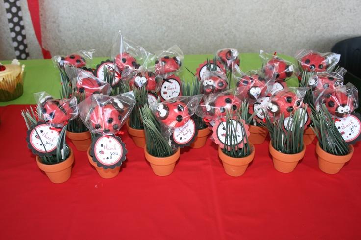 lady bug cake pops baby shower favors 1st bday ladybug party ideas