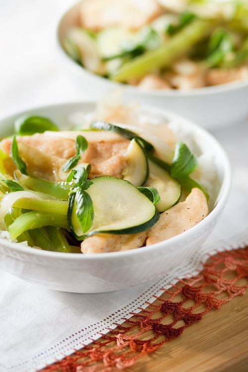 Chicken & Basil Stir-Fry | Food | Pinterest