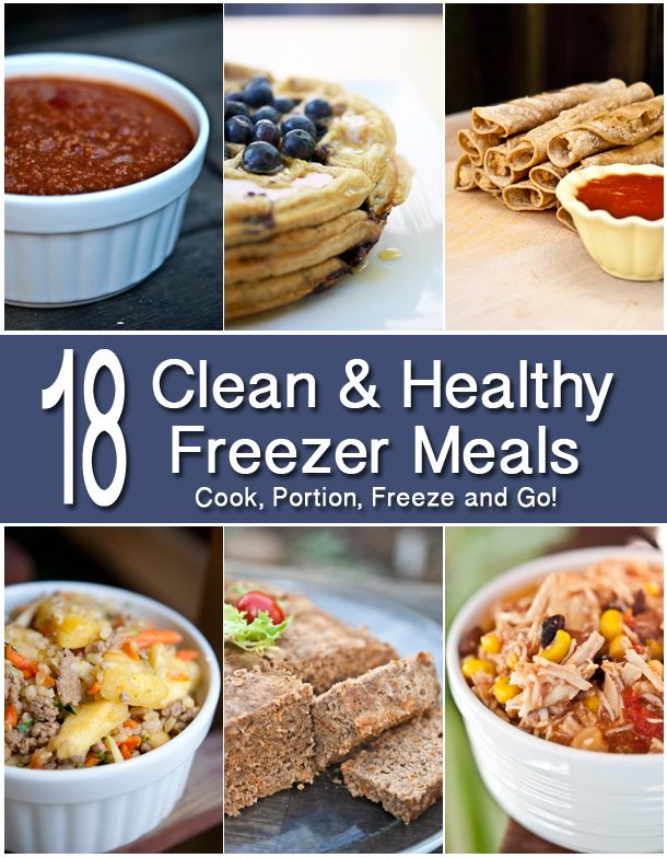 Never be without a clean & health meal again. Here are 18 recipes you can make ahead of time and freeze so you can just grab-n-go from www.TheGraciousPantry.com