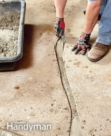 diy concrete crack repair