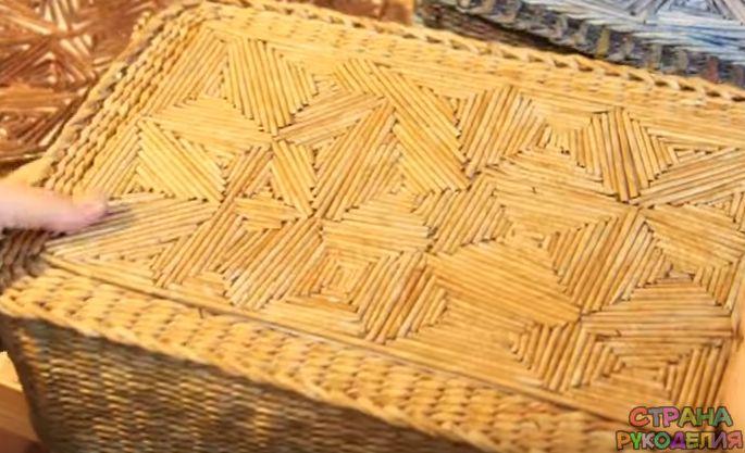 Плетение из газет коса в узоре